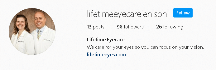 Lifetime Eyes Instagram Link Image